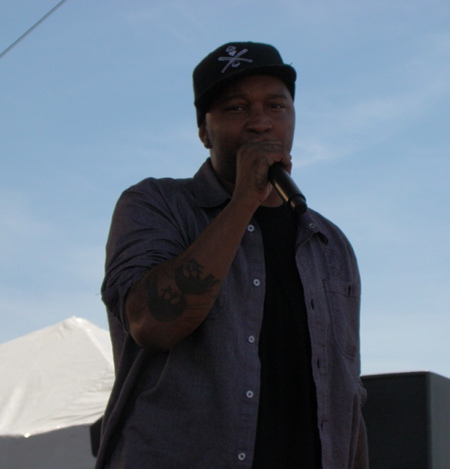 P.O.S. performing Savion Glover Courtesy of Erik Burg