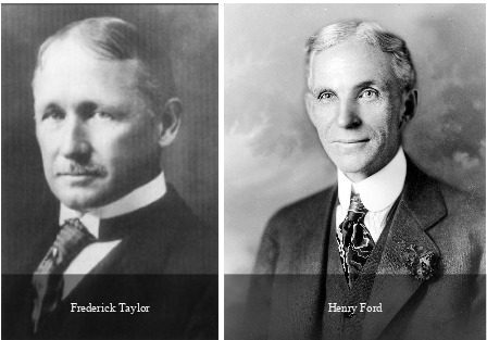 Henry Ford e Frederick Taylor