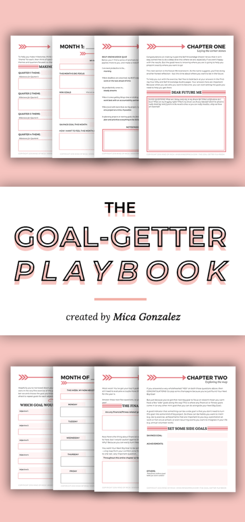 Following through on your goals getting you down? The Goal-Getter Playbook promises to be the one-stop solution to setting meaning goals and following through with them! #goaldigger #prettyplanners #planneraddict
