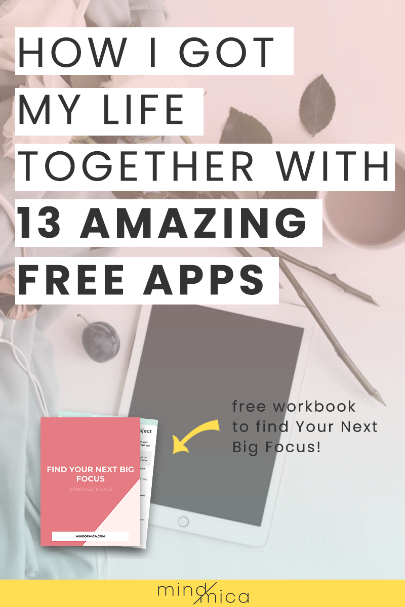 Here are 13 free productivity apps for anyone looking to get their life together. Plus see a list of free wellness apps that will help you live a happier, healthier life. Win win!