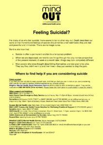 feeling suicidal resource