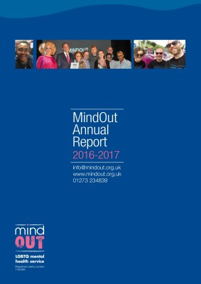 cover of the mindout annual report 2016-2017