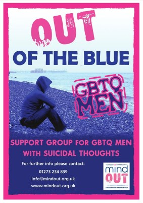 Out of the Blue GBTQ men poster