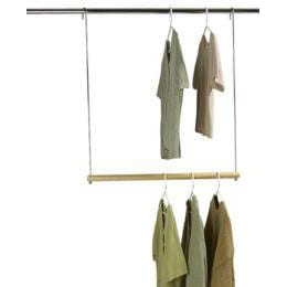 Use A Second Hanging Bar To Make More Room In The Closet