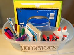 Help your child be prepared so they can complete their homework quickly