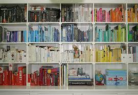 Books sorted by colour
