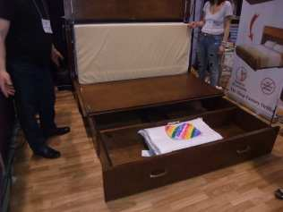 bed in a cupboard