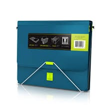 The elastic closure hooks securely onto the front of the binder