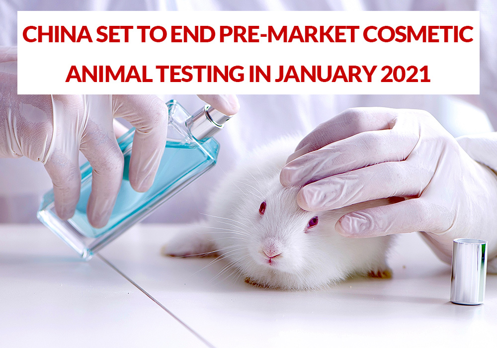 China Ending Pre-Market Animal Testing for Cosmetics 2021