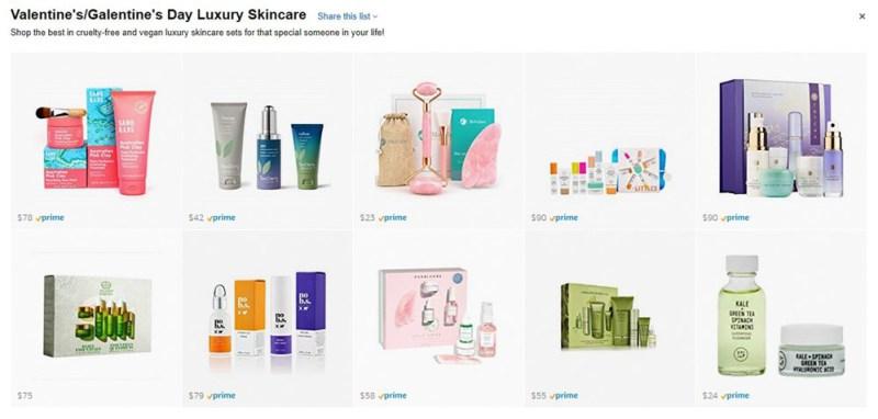 Valentine's Galentine's Day Luxury Skincare List