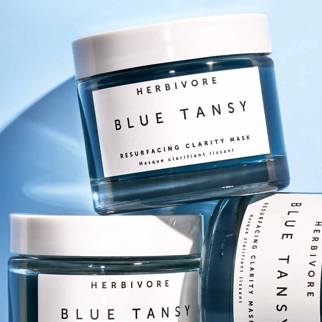 Herbivore Blue Tansy Resurfacing Clarity Mask Maskne Skincare