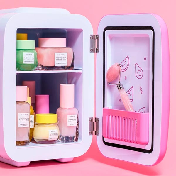Makeup Fridge Glow Recipe Skincare Fridge Interior