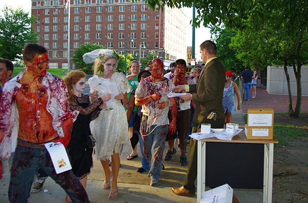 Doctor Toboggans cures a zombie horde