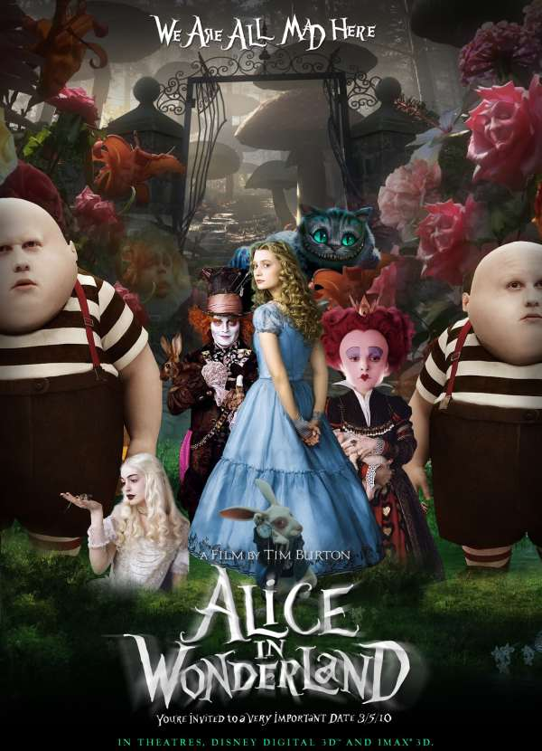 Alice in Wonderland (2010) – Tim Burton – The Mind Reels