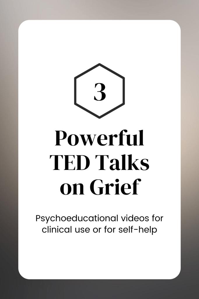TED Talks on grief