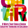 As teachers and parents, it's our job to encourage our students or children to be inquisitive and creative. However, sometimes we crush creative thinking without even realizing it. This post describes eight ways that creative thinking in kids gets crushed.