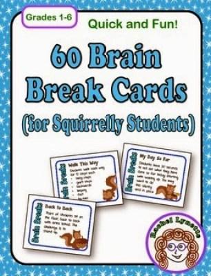 60 Brain Break Cards