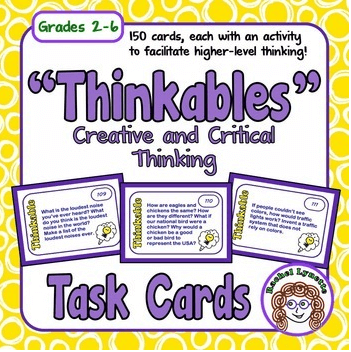 Creative and Critical Thinking Task Cards