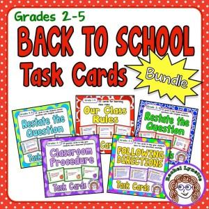 Back to School Task Card Bundle