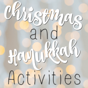 Christmas and Hanukkah Activities