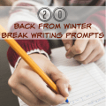 You're back from winter break, and both you and your students are feeling the blues about vacation being over. Why not ease them back into the school routine with some of these fun back from winter break writing prompts? Get them thinking creatively and writing willingly with this list of 20 free writing prompts!