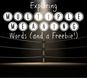Exploring Multiple Meaning Words – and a Freebie!