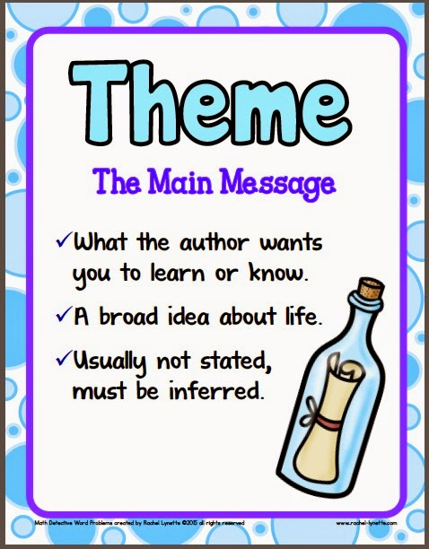 worksheet: Theme Of A Story Worksheets Finding The 4th Grade ...