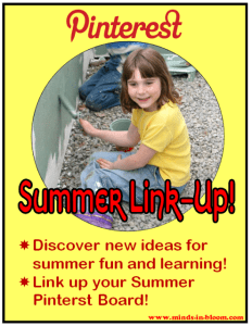 Pinterest Summer Link Up: Tons of Ideas for Summer Learning and Fun!
