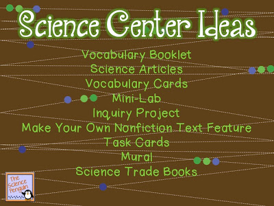 Having a science content center as part of your centers rotation really allows students to dig into the nitty gritty of science concepts while also interacting with math and literacy. Our guest blogger is Ari of The Science Penguin, and she shares three of her favorite activities to include in her science content center as inspiration for you. Grab a freebie, as well!