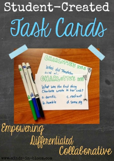 Teachers aren't the only ones who can create task cards! Empower your students to take charge of their learning by encouraging them to make task cards. Kid-created task cards are unique, powerful, and fun!
