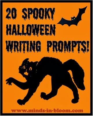 Spooky halloween writing