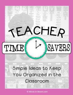 If there's anything we need in schools, it's teacher time savers! Our guest blogger shares a variety of different tips and tricks that help teachers save time and keep their classrooms organized. Click through to read all of her tips for teacher time savers!