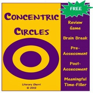 Free Concentric Circles Activity: Review Game, Brain Break, Pre-Assessment, Post-Assessment, or Meaningful Time-Filler