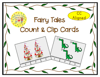 Fairy Tales Count and Clip Cards
