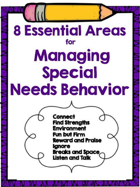Managing special needs behavior is quite different than managing behavior in a general education classroom, and therefore, it requires different areas of focus and different skills. This guest blogger shares eight essential areas that must be in focus for managing special needs behavior.