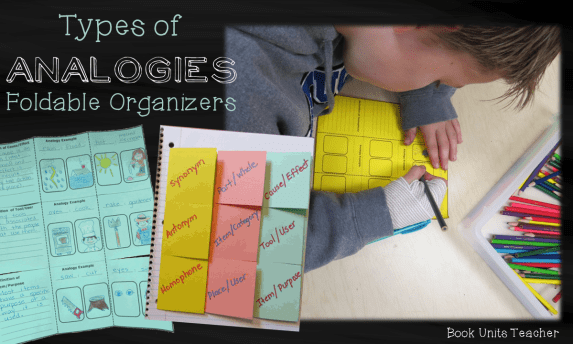 Types of Analogies Foldable Organizers