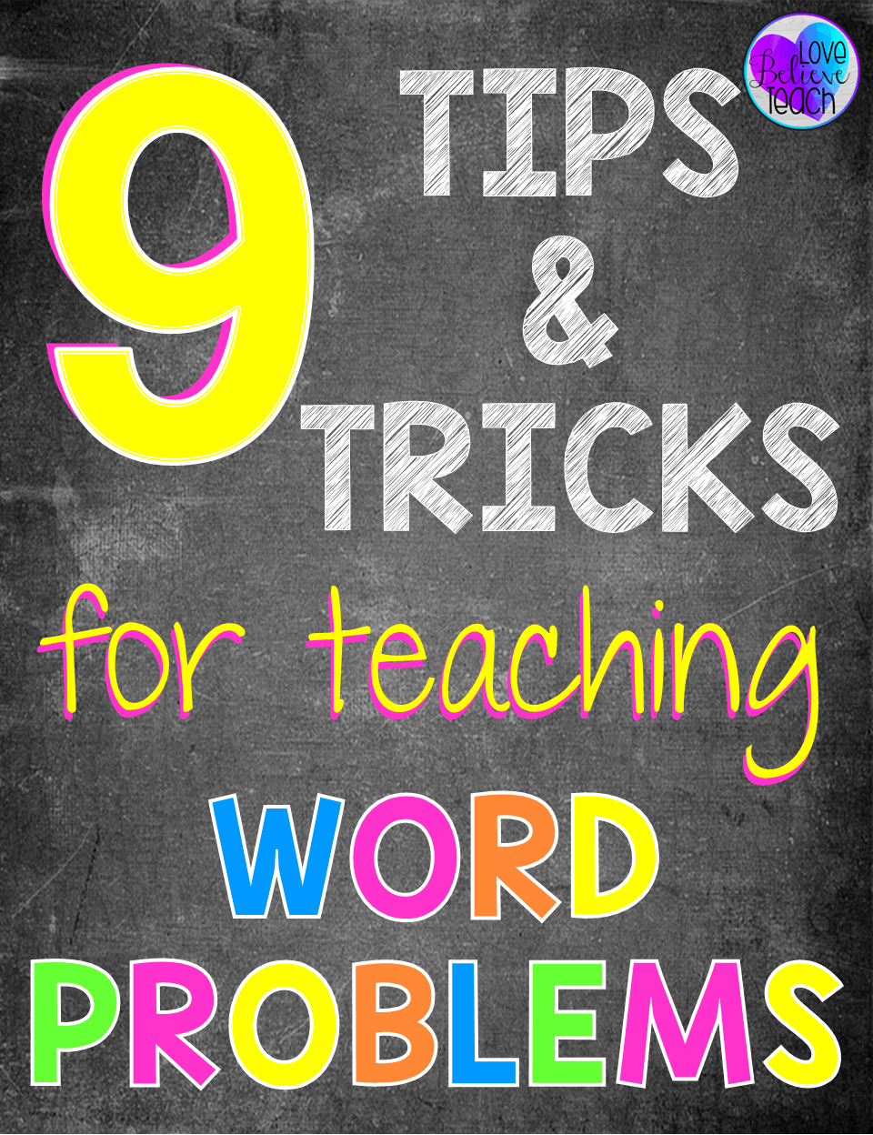 Teaching word problems is often the most challenging part of the curriculum for a math teacher. This veteran teacher shares nine tips and tricks for teaching word problems to help your students master them and to make them less challenging for you to teach!