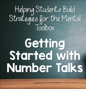 Getting Started with Number Talks