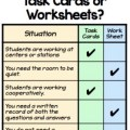 You have a go-to resource, but sometimes you're not sure which is better: task cards or worksheets. This chart will help you determine best times for use.