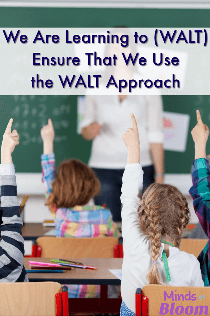 We Are Learning to, or WALT, is an instructional method that ensures that you always make your learning objective clear for students--and for yourself. Our guest blogger shares two times where she failed to make her WALT clear, and her students were unsuccessful is sharing what they had just learned.