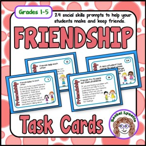 Friendship Task Cards: Social Skill Prompts