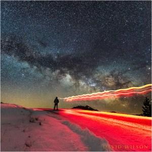 Self Portrait beneath Milky Way