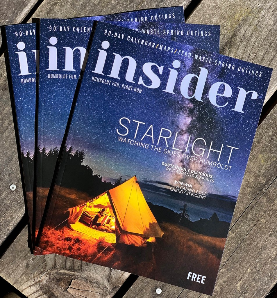 Cover for Humboldt Insider Magazine Spring/Summer 2019 Issue.