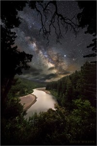 Eel River vista beneath gorgeous Milky Way