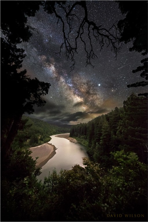 Eel River vista beneath gorgeous Milky Way