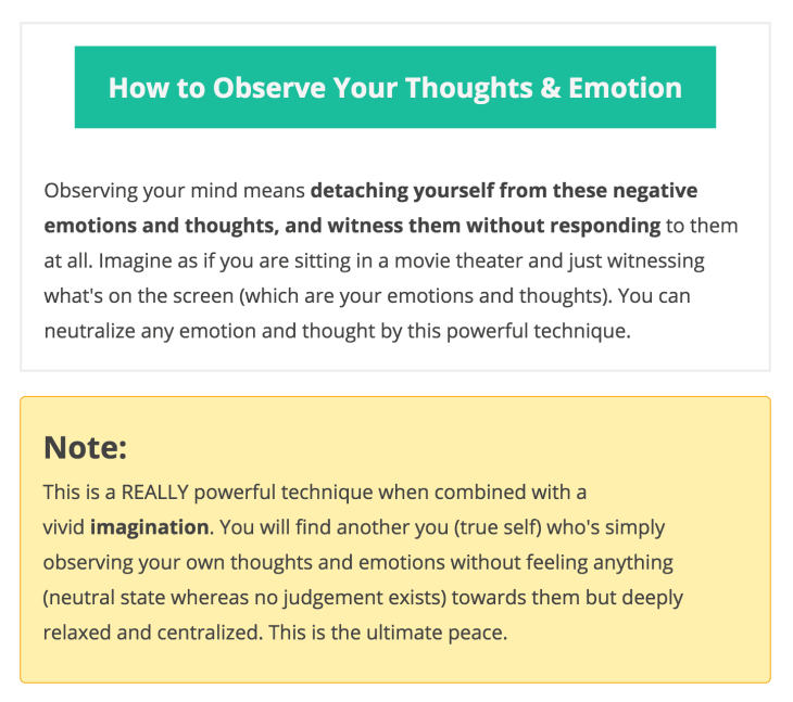 How to observe your thoughts