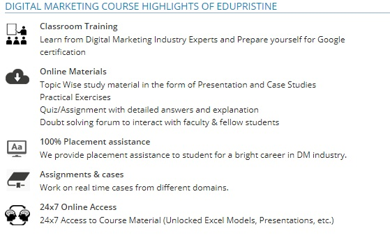 Edupristine course highlights