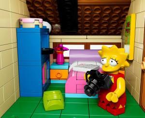 Lego Simpsons set 71006 Lisa appareil photo