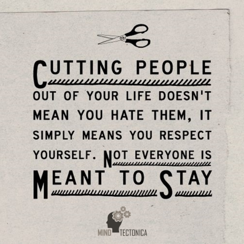 30 izjemnih stvar 01 Quote Cutting people out of your life doesn't mean you hate them, it simply means you respect yourself. Not everyone is meant to stay. Mind Tectonica