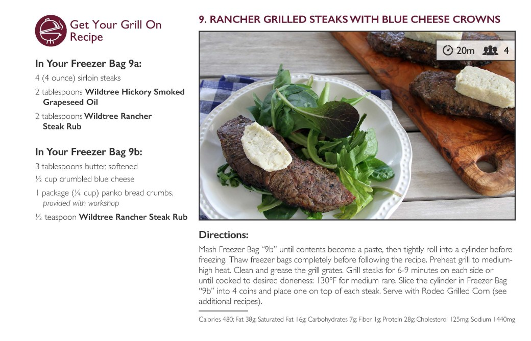 FMW Rancher Grilled Steaks w Blue Cheese Crowns